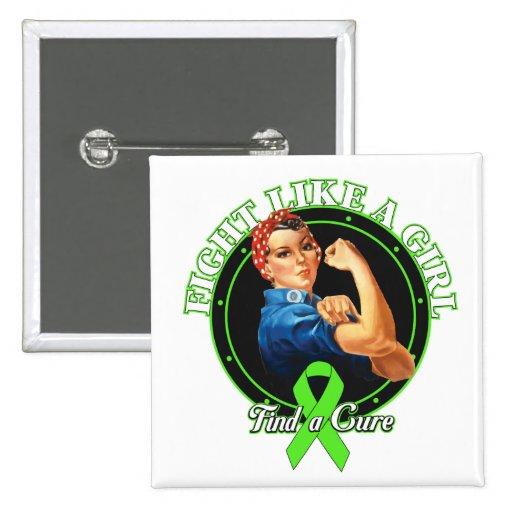 De FightLikeAGirl Rosie del remachador linfoma de  Pin Cuadrada 5 Cm
