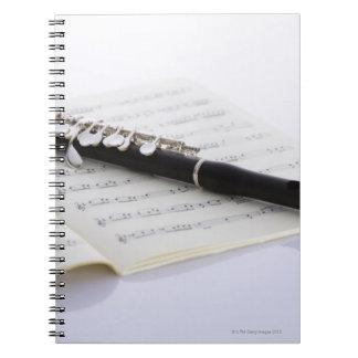 De flautín spiral notebook
