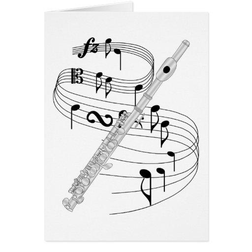De flautín tarjeta de felicitación