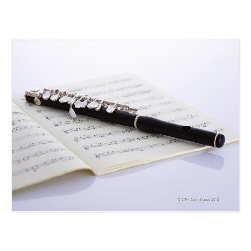 De flautín tarjetas postales