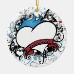 De Fluer navidad Ornamanet del corazón para siempr Ornamento Para Reyes Magos