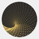 De flujo en espiral de tiempo pegatinas redondas