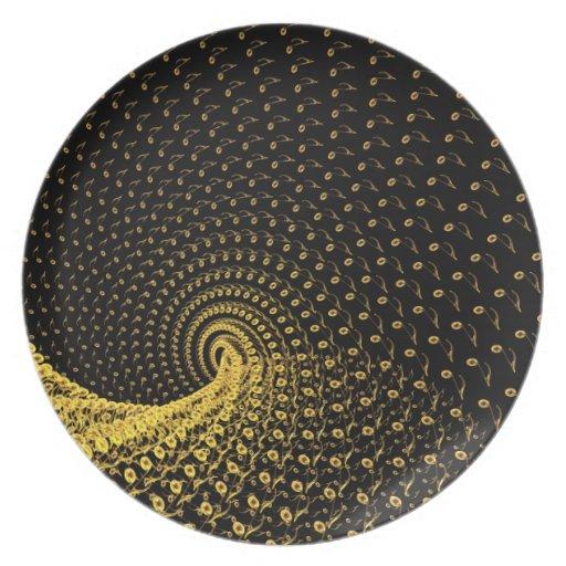 De flujo en espiral de tiempo plato para fiesta