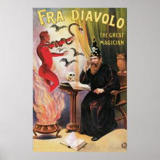 ~ de Fra Diavolo el acto mágico del gran vintage Póster