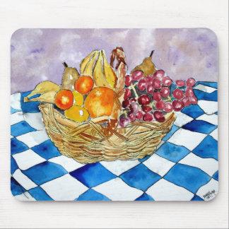 de fruta todavía de la cesta cojín de ratón del ar alfombrilla de ratón