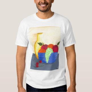 De fruta todavía del cuenco camiseta de la vida playeras