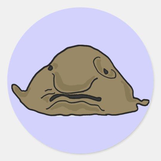 DE- Funny Blobfish Sticker