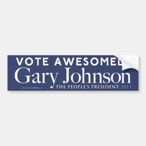 De Gary Johnson del voto pegatina para el parachoq Etiqueta De Parachoque