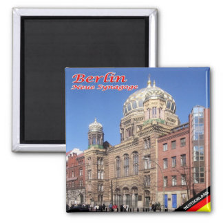 DE - Germany - Berlin - New Synagogue 2 Inch Square Magnet