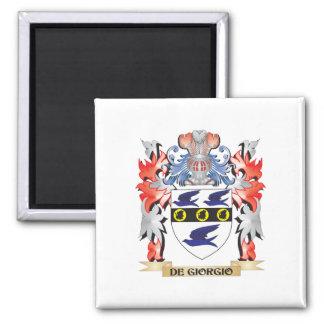 De-Giorgio Coat of Arms - Family Crest 2 Inch Square Magnet