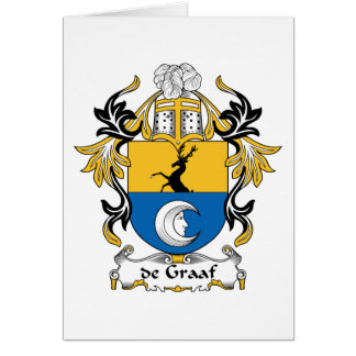 de Graaf Family Crest Card