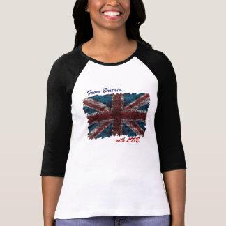 de Gran Bretaña con la camisa de Union Jack del gr