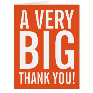De gran tamaño muy grandes le agradecen las tarjeta de felicitación grande