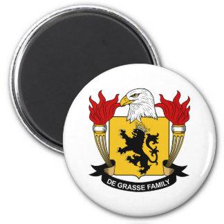 De Grasse Family Crest 2 Inch Round Magnet