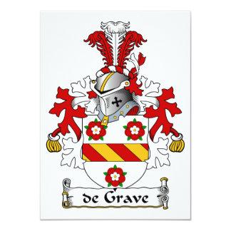 de Grave Family Crest 4.5x6.25 Paper Invitation Card