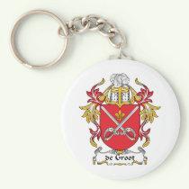 de Groot Family Crest Keychain