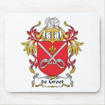 de Groot Family Crest Mousepad