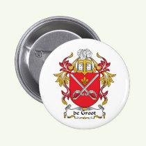 de Groot Family Crest Button