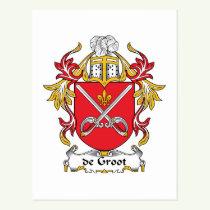 de Groot Family Crest Postcard