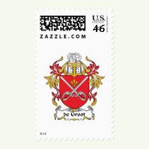 de Groot Family Crest Stamps
