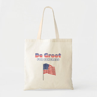 De Groot for Congress Patriotic American Flag Desi Tote Bag