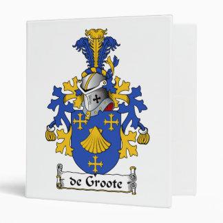 de Groote Family Crest Vinyl Binders