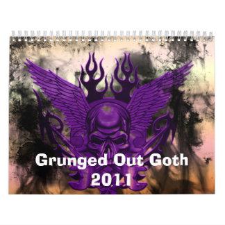 De Grunged calendario del gótico 2011 hacia fuera