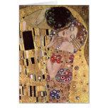 ~ de Gustavo Klimt el beso Felicitación