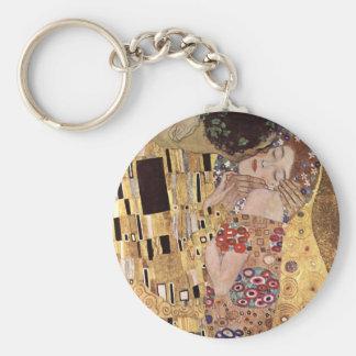 ~ de Gustavo Klimt el beso Llavero Redondo Tipo Pin