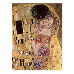 ~ de Gustavo Klimt el beso Postales