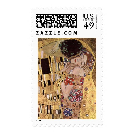~ de Gustavo Klimt el beso Sellos