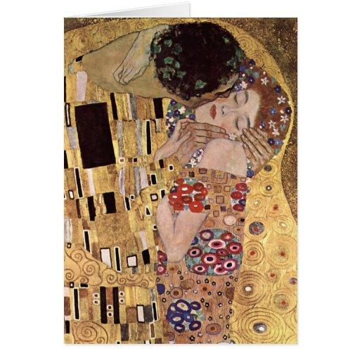 ~ de Gustavo Klimt el beso Tarjeta De Felicitación