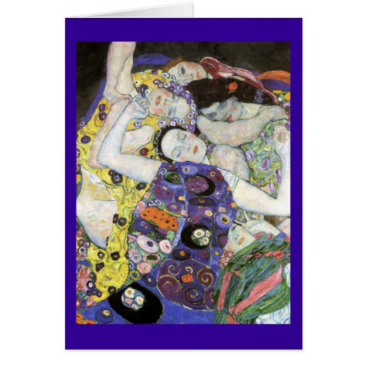 ~ de Gustavo Klimt la Virgen Tarjeta De Felicitación