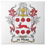de Haas Family Crest Ceramic Tile