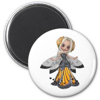 ♥ de hadas cobrable del arte de la muñeca de la fl imanes