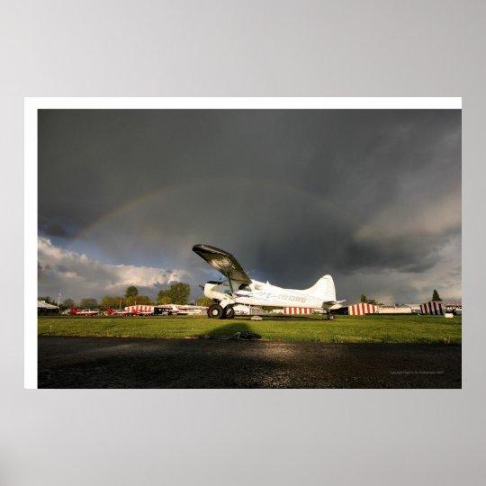 De Haveland Beaver Rainbow Poster
