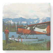 De Havilland Beaver Floatplane Stone Coaster