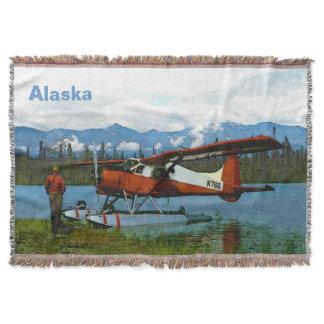 De Havilland Beaver Floatplane Throw Blanket