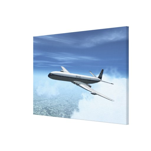 De Havilland Comet 4 Gallery Wrapped Canvas
