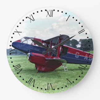 De Havilland Dragon Rapide - Roman Dial Large Clock