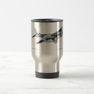 de Havilland Mosquito (1941) 15 Oz Stainless Steel Travel Mug