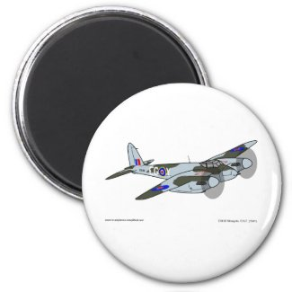 de Havilland Mosquito (1941) 2 Inch Round Magnet
