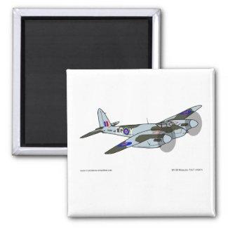 de Havilland Mosquito (1941) 2 Inch Square Magnet