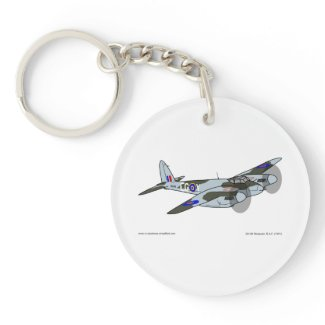 de Havilland Mosquito (1941) Double-Sided Round Acrylic Keychain