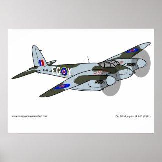 de Havilland Mosquito (1941) Poster
