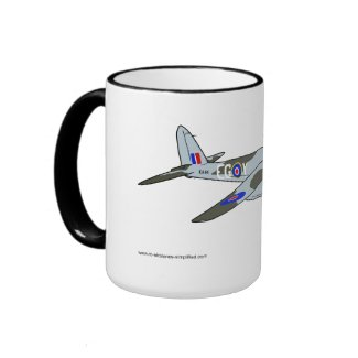 de Havilland Mosquito (1941) Ringer Coffee Mug