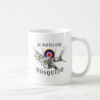 de havilland mosquito classic white coffee mug