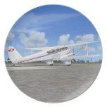 De Havilland Rapide Plane Plate
