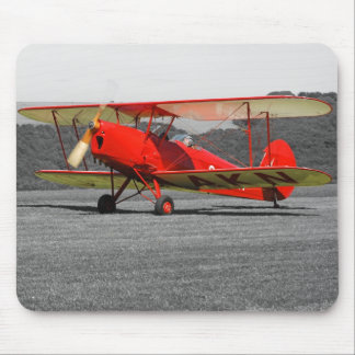 De Havilland Red Tigermoth Bi-Plane Mousepad