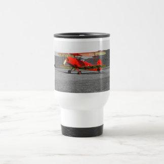 De Havilland Red Tigermoth Bi-Plane Travel Mug